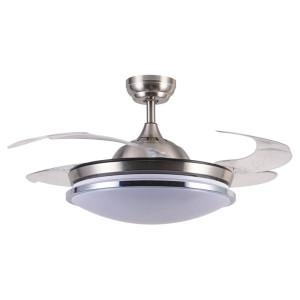 Ανεμιστήρας οροφής με ενσωματωμένο LED φωτισμό 55W και ανοιγοκλειόμενες φτερωτές