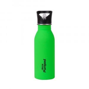 Μεταλλικό ανοξείδωτο μπουκάλι Πράσινο Décor 500ml / Με εσωτερικό καλαμάκι & 'soft touch' υφή