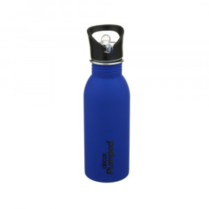 Μεταλλικό ανοξείδωτο μπουκάλι Décor 500ml / Με εσωτερικό καλαμάκι & 'soft touch' υφή