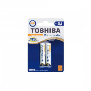 ΕΠΑΝΑΦΟΡΤΙΖΟΜΕΝΕΣ ΜΠΑΤΑΡΙΕΣ NiMh AAA 750mAh TOSHIBA BP-2 (2 ΤΜΧ)