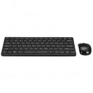 Πληκτρολόγιο Wireless Keywin RL-GK03 με Ασύρματο Ποντίκι 2.4G με Προστατευτική Μεμβράνη Μαύρο 26353