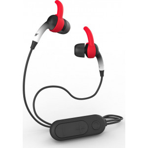 ΑΣΥΡΜΑΤΑ ΑΚΟΥΣΤΙΚΑ  BLUETOOTH iFROGZ - SOUND HUB PLUGZ WIRELESS EARBUDS WITH MIC BLACK/RED