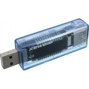 Battery Tester Keweisi KWS-V20 με USB για Μπαταρίες με Βολτόμετρο και Αμπερόμετρο έως 20V με LCD Οθόνη 23234