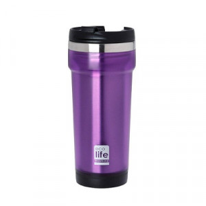 ECOLIFE COFFE THERMOS 420ML PURPLE 33-BO-4011 -1546