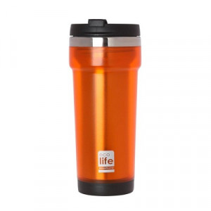 ECOLIFE COFFE THERMOS 420ML ORANGE 33-BO-4014 -1690