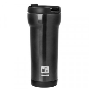 ECOLIFE ΜΕΤΑΛΛΙΚΟΣ COFFE THERMOS 420ML BLACK 33-BO-4006 -1461