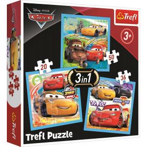 TREFL PUZZLE 20/36/50 Pcs 3 in 1 CARS 817-34848