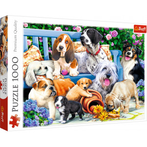 TREFL PUZZLE 1000PCS DOGS IN THE GARDEN 817-10556