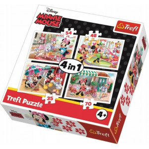 TREFL PUZZLE 4 IN 1 (12/15/20/24PCS) MINNIE WITH FRIENDS 817-34355