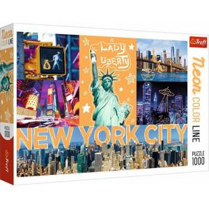 TREFL ΠΑΖΛ 1000 ΤΕΜ. NEW YORK NEON 817-10579