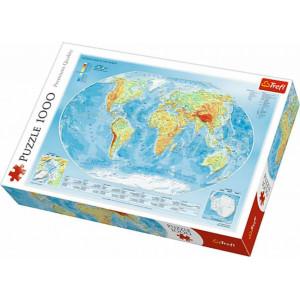 ΠΑΖΛ TREFL 1000ΤEM. PHYSICAL MAP OF THE WORLD (ΦΥΣΙΚΟΣ ΠΑΓΚΟΣΜΙΟΣ ΧΑΡΤΗΣ) 817-10463