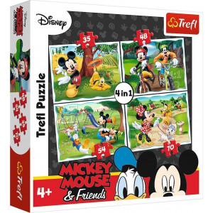 TREFL PUZZLE 4 IN 1(35/48/54/70 PCS) MICKEY MOUSE AND FRIENDS PLAYING IN THE PARK 817-34261