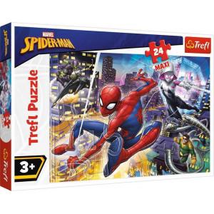 TREFL PUZZLE MAXI 24PCS SPIDERMAN FEARLESS 817-14289