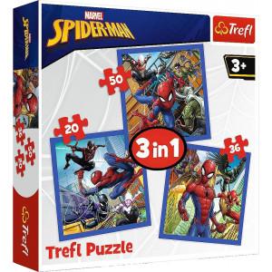 TREFL PUZZLE 20/36/50 Pcs 3 in 1 SPIDER FORCE 817-34841