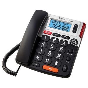 ΕΠΙΤΡΑΠΕΖΙΟ ΤΗΛΕΦΩΝΟ BIG BUTTON ΜΕ CALLER ID TELCO GCE 6266 ΜΑΥΡΟ 01.999