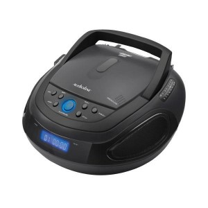 ΦΟΡΗΤΟ ΡΑΔΙΟ-CD PLAYER MP3 USB BLUETOOTH AUDIOLINE CD1012A ΜΑΥΡΟ