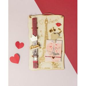 LifeLikes: Λαμπάδα με κρεμαστό διακοσμητικό Madame Paris 04.19.00.604.1874