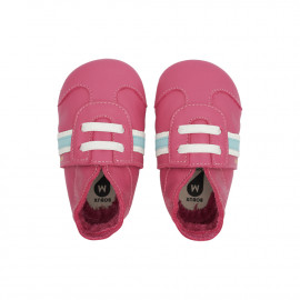 Bobux: Soft sole (3-21 μηνών) Sport Classic Pink 1000-068-05