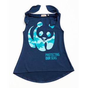 "Keen Organic: Μπλόυζα χωρίς μανίκια ""Panda sea"" 103-G-PANDASEA-6Y"