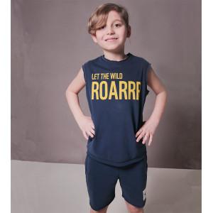 "Keen Organic: Σετ t-shirt και shorts ""Roarrr"" 133-B-ROAR-4Y"