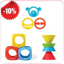 ΕΚΠΤΩΣΗ 10%: Moluk Παιχνίδια οδοντοφυΐας Nigi, Nagi & Nogi + Oibo + Hix colors 43400+43420+43380