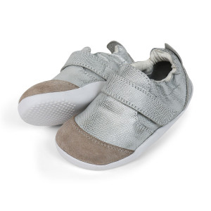Bobux: Step up (No: 19-21) Xplorer Marvel Dress Shoe Silver 501203-20