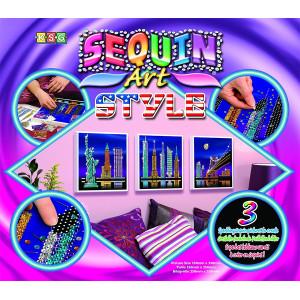 Sequin art Κατασκευές με πούλιες - New York 5013634014171