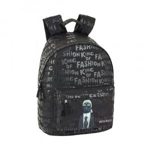 Safta: Τσάντα πλάτης με θήκη για laptop ή tablet 31x16x41εκ. Pets Rock Fashion 611909819