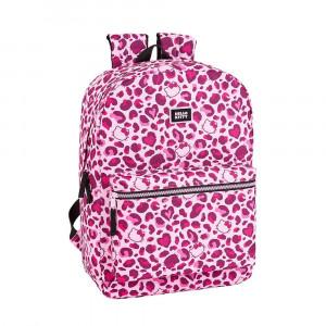 Safta: Τσάντα πλάτης με θήκη για laptop ή tablet 32x14x43εκ. Hello Kitty Leopard 611917754