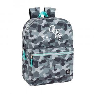 Safta: Τσάντα πλάτης με θήκη για laptop ή tablet 32x14x43εκ. Hello Kitty Camo 611940754