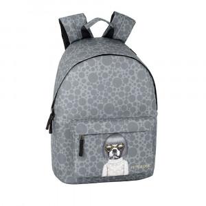Safta: Τσάντα πλάτης με θήκη για laptop ή tablet 31x16x41εκ. Pets Rock Spots 611959819