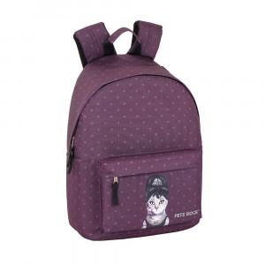 Safta: Τσάντα πλάτης με θήκη για laptop ή tablet 31x16x41εκ. Pets Rock Breakfast 611960819