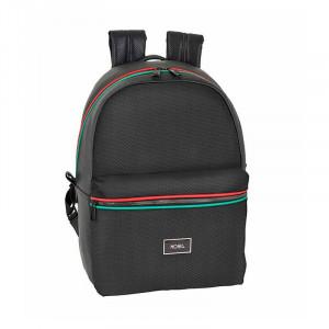 Safta: Τσάντα πλάτης με θέση φορητού υπολογιστή 44εκ Moos Black 611963771