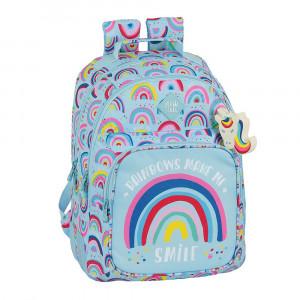Safta: Τσάντα πλάτης μεγάλη 32x15x42εκ. με ενισχυμένες γωνίες Rainbow 612033773