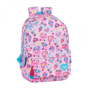 Safta: Τσάντα πλάτης με θήκη για laptop ή tablet 30x14x46εκ. Hearts 612036758
