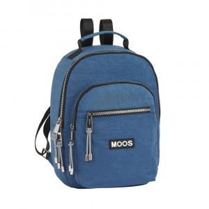 Safta: Τσάντα πλάτης με θήκη για laptop ή tablet 24x11x33εκ. Moos Capsula Jeans 612068879