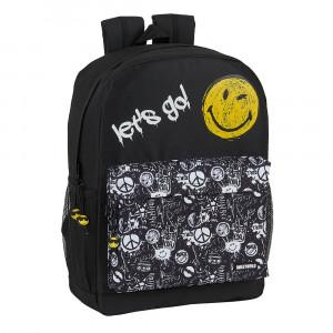 Safta: Τσάντα πλάτης μεσαία 32x14x43εκ. Smilie World Grafitti 612091754