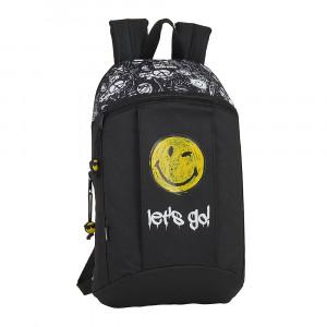 Safta: Τσάντα πλάτης μικρή 22x10x39εκ. Smiley World Graffiti 612091821