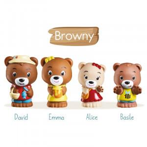 """Klorofil Οικογένεια """"Browny"""" 4τμχ. 700300F"""
