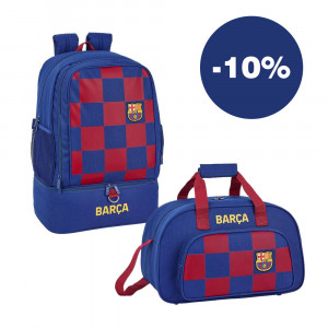 Safta: ΠΡΟΣΦΟΡΑ Τσάντα μεγάλη με θήκη για παπούτσια 50εκ. + Αθλητική τσάντα 40εκ. Barcelona 711929273+611929825