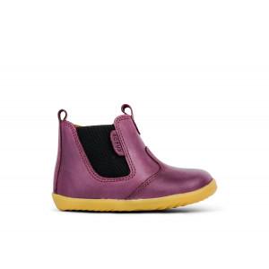 Bobux: Step up Jodphur Boot Charcoal Plum 721934