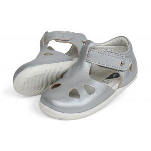 Bobux: Step up (No: 18-22) Zap Sandal Silver 725832