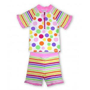 Jakabel Σετ μπλούζα-σορτς με προστασία UVP50+ Pink Dots AG3004