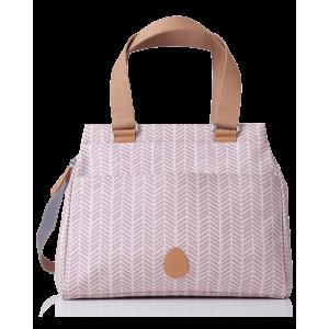 Pacapod: Tσάντα αλλαξιέρα - Richmond dusky pink herringbone BB:0215