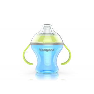BabyOno: Ποτηράκι Non-spill με μαλακό στόμιο 180ml BN1456