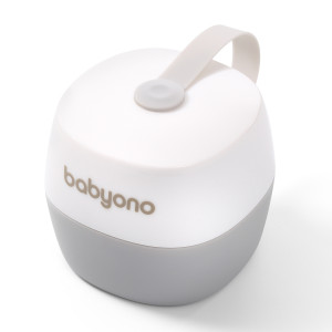 BabyOno: Θήκη πιπίλας - Άσπρο και Γκρί BN535-01