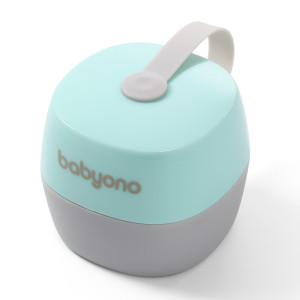BabyOno: Θήκη πιπίλας - Άσπρο και Μέντα BN535-02