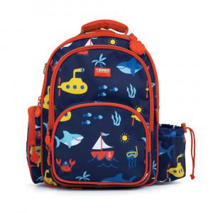 "Penny Scallan: Τσάντα πλάτης με θήκη για παγούρι μεγάλη 39 x 29.5 εκ ""Anchor"" BPLANC"