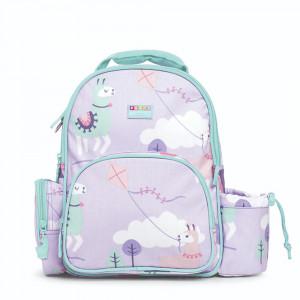 """Penny Scallan: Τσάντα πλάτης με θήκη για παγούρι μεγάλη 39 x 29,5 εκ """"Loopy Llama"""" BPLLOL"""