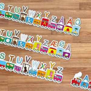 Barbo Toys Puzzle ABC Τρένο BT5943
